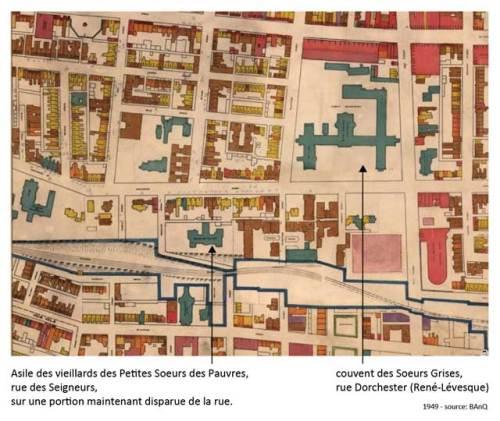 Carte de Montréal, 1949. Cliquez sur la carte pour la voir en mode plein écran.