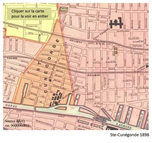 1898 - Plan de Ste-Cunégonde. Source BAnQ.