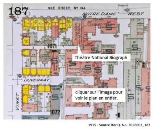 1915 - Plan d'une partie du quartier Ste-Cunégonde. Source BAnQ.