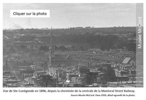 Vue de Sainte-Cunégonde en 1896. Source: Musée McCord, view-2936.