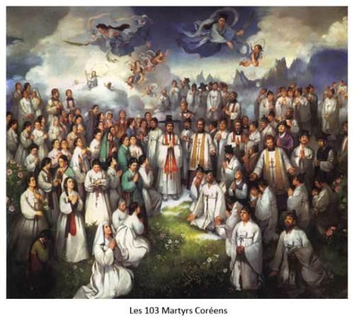 Les 103 Martyrs Coréens. Image tirée du site web Catholic Bishops' Conference of Korea