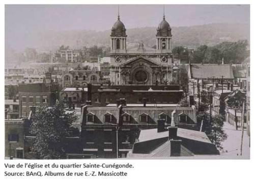 Église et paroisse Ste-Cunégonde. BAnQ. Albums de rue E.-Z. Massicotte.