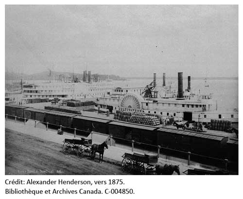 Vers 1875, Alexander Henderson. Bateau Cultivateur. Bibliothèque et Archives Canada. C-004850.