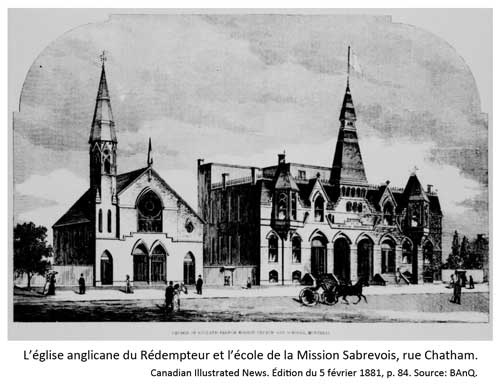 Église du Rédempteur et école de la Mission Sabrevois, rue Chatam.
