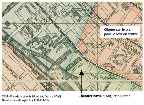 1903 - Plan de la ville de Montréal. Source BAnQ. Numéro de catalogue Iris: 0000066417.
