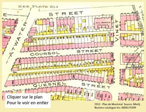 1912 - Plan de Montréal. Source BAnQ. Numéro de catalogue Iris: 0000174399