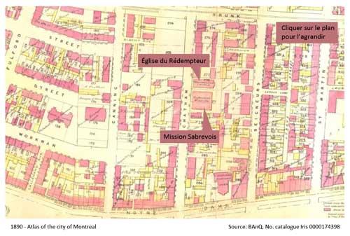 1890 - Atlas of Montreal. Source BAnQ. Numéro catalogue Iris 0000174398
