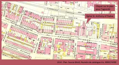 plan 1914 St. Anthony of Padua