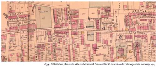 1879 - Plan indiquant l'emplacement du square Richmond