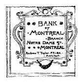 Cartouche pour la Banque de Montréal