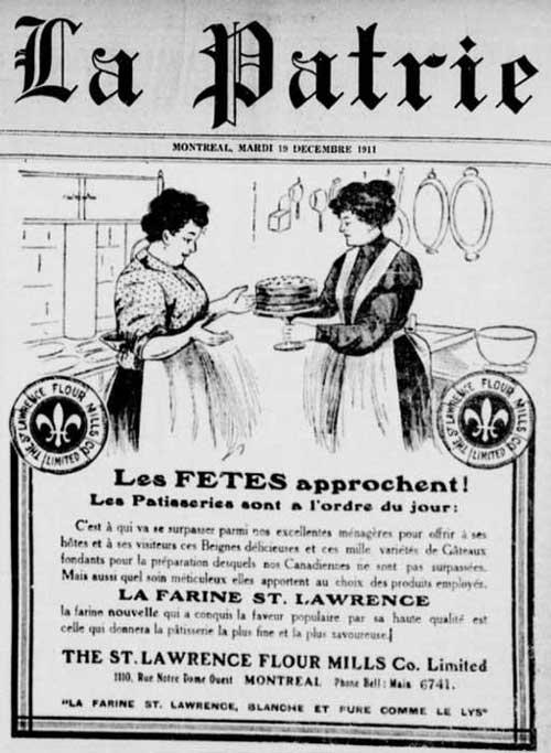 Publicité pour la St. Lawrence Flour Mills Co. Limited